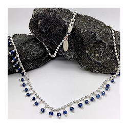 Kyanite gemstone necklace