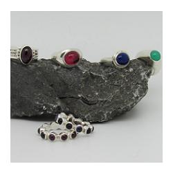 Rhodolite Garnet, Pink Tourmaline, Blue Lapis Lazuli and Green Chrysoprase