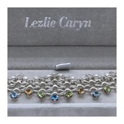 Sterling Silver Gemstone Collar